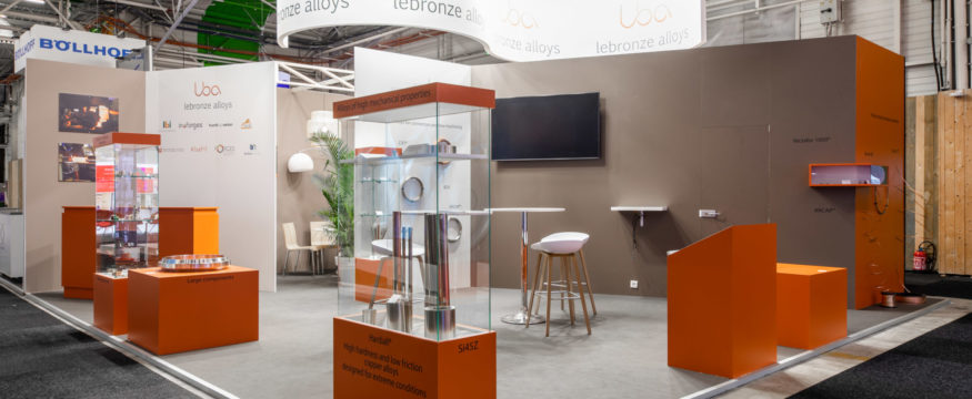 fabrication de stand d'exposition design.